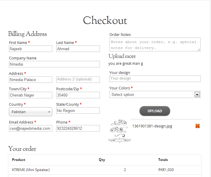 Personalized Checkout