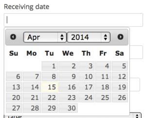 Date picker input